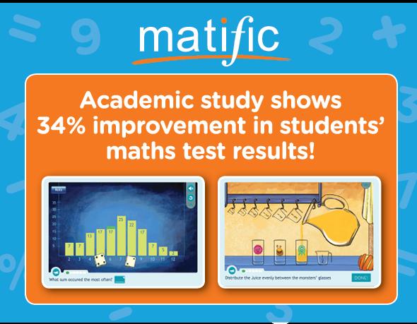 Matific giúp cải thiện điểm toán tới 34%